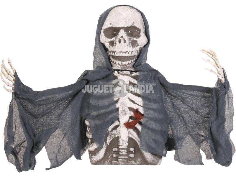 Esqueleto con Luz Enterrado Negro