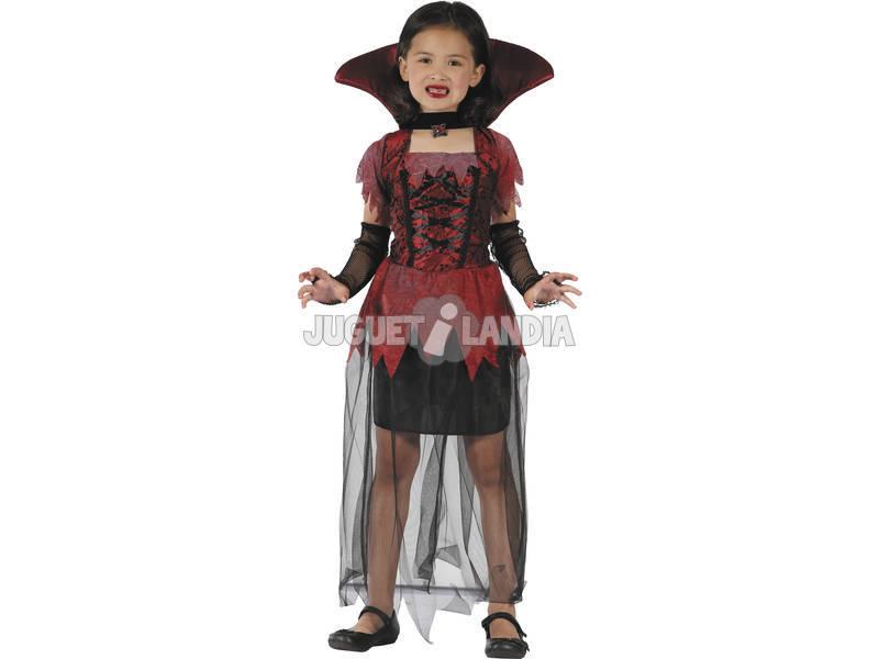 Disfarce Vampira Gótica Menina Tamanho S