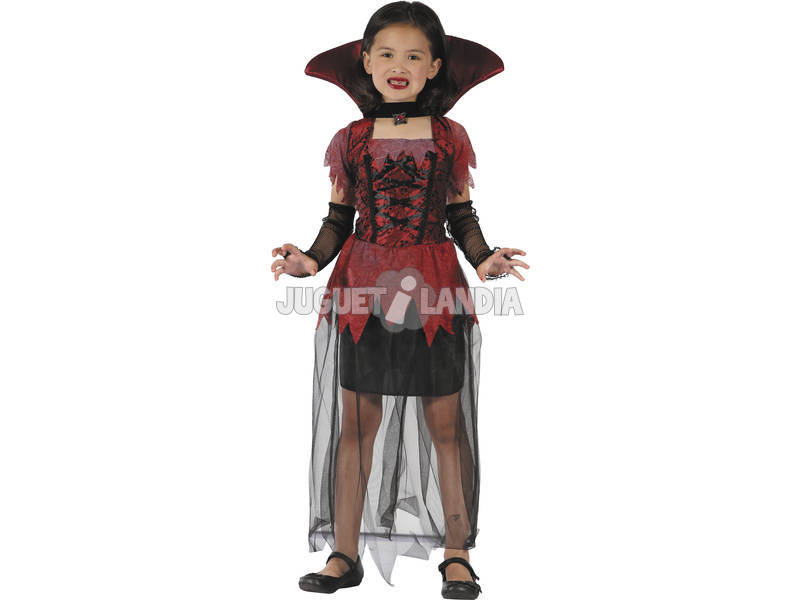 Disfarce Vampira Gótica Menina Tamanho XL