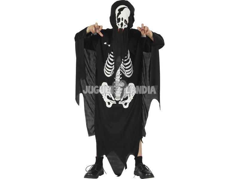 Disfarce Demónio Esqueleto Menino Tamanho M