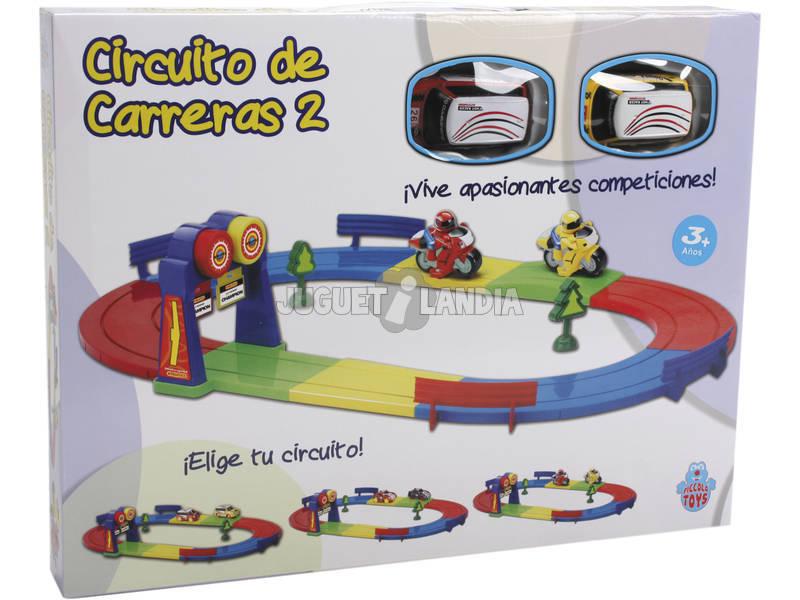 Circuito De Corridas com 2 Carros Mini de Brinquedo