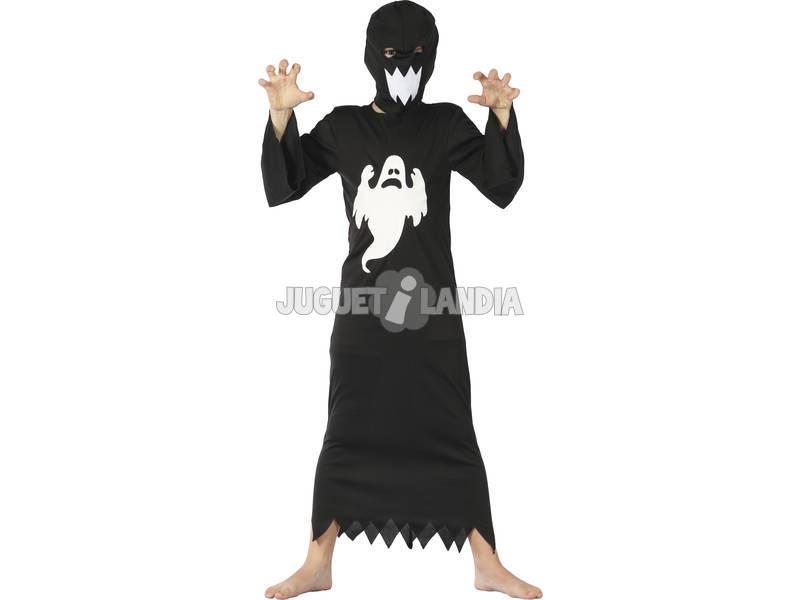 Disfraz Fantasma Negro Niño Talla M