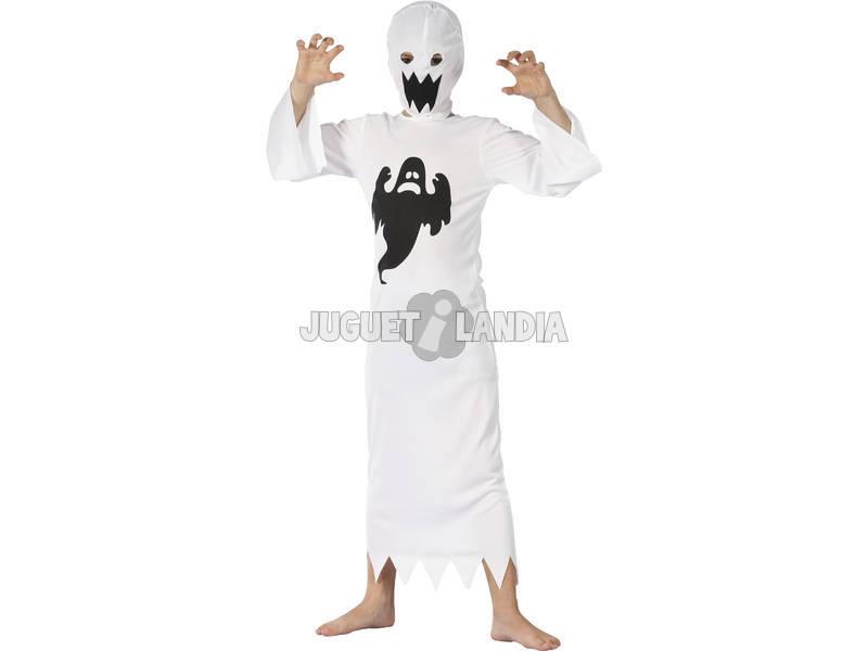 Disfarce Fantasma Branco Menino Tamanho L