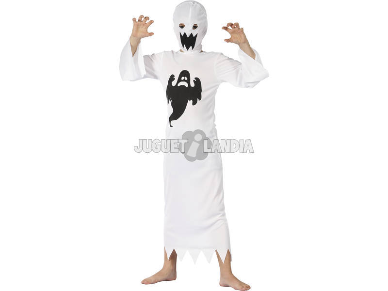 Fantasia Fantasma Branco Crianças Tamanho XL