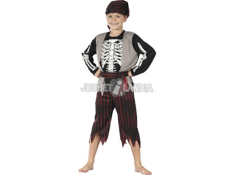 Disfraz Pirata Esqueleto Niño Talla M