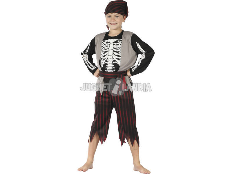 Disfraz Pirata Esqueleto Niño Talla L