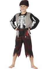 imagen Disfraz Pirata Esqueleto Niño Talla L