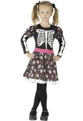 imagen Disfraz Esqueleta Niña Talla M