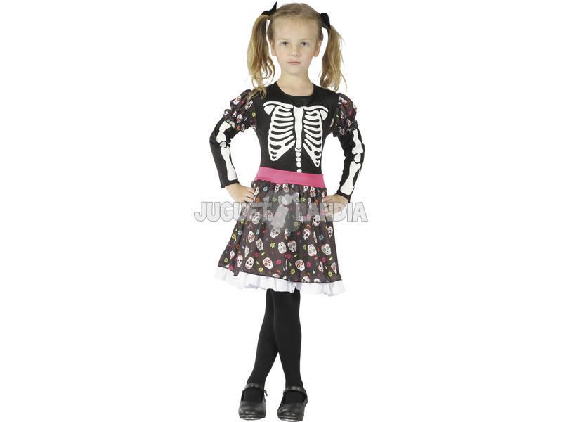 Fantasia Esqueleto Menina Tamanho XL