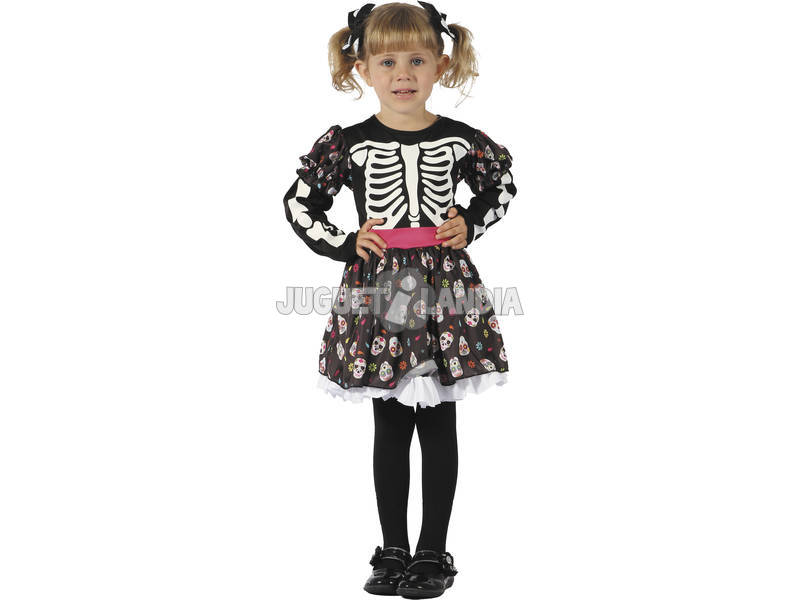 Disfarce Esqueleto Bebé Tamanho M