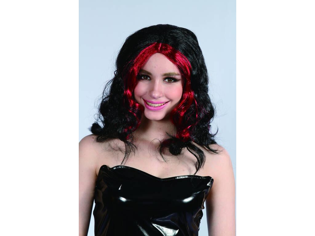 Parrucca Adulto rossa e nera