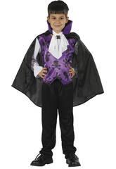 imagen Disfraz Vampiro Lila Niño Talla S
