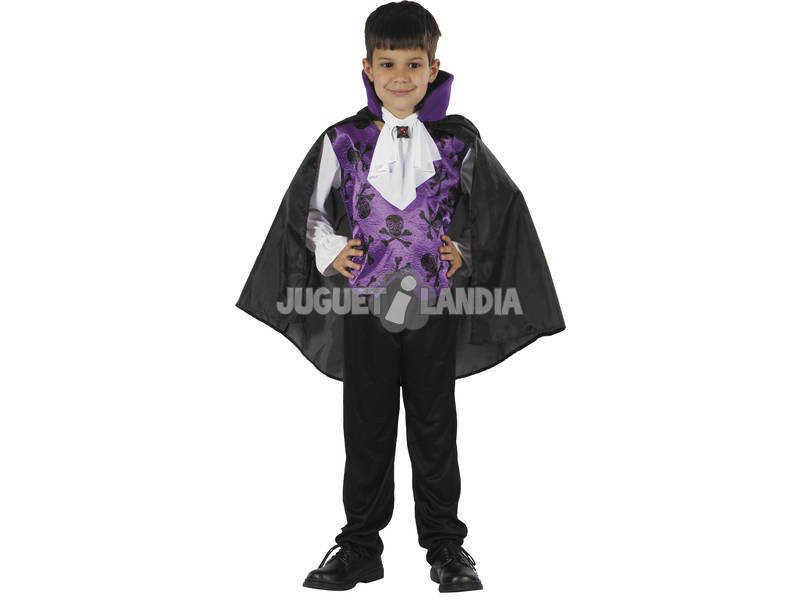 Disfraz Vampiro Lila Niño Talla L