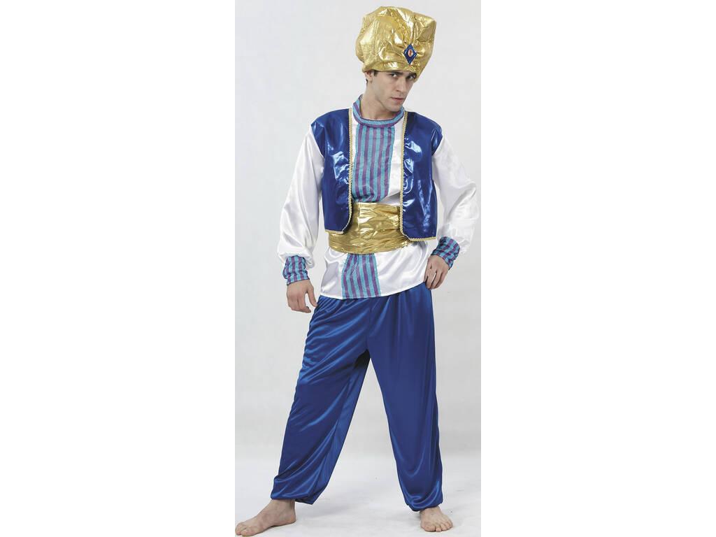 Costume Sultan Color Blue Men Tamanho XL