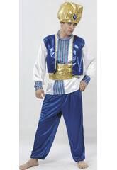Disfraz Sultán Color Azul Hombre Talla XL