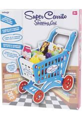 Carro compra Azul con Accesorios 56 piezas