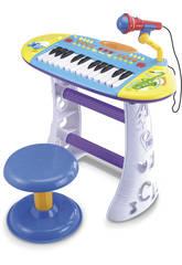 Instrumento Musical Piano con Banqueta Azul