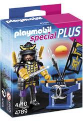 Playmobil Samurai con Estante de Armas