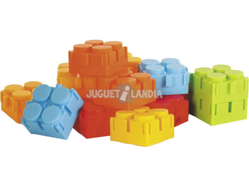 Blocos construção 80 peças com Ancoragem Lateral