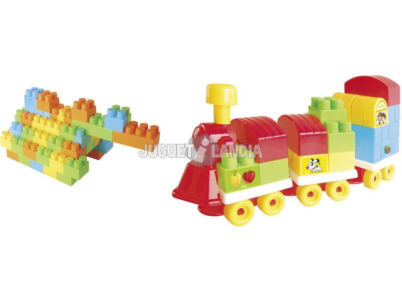 Carro Tren Bloques 26 piezas