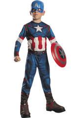 Déguisement Garçon Capitaine América AOU T-S