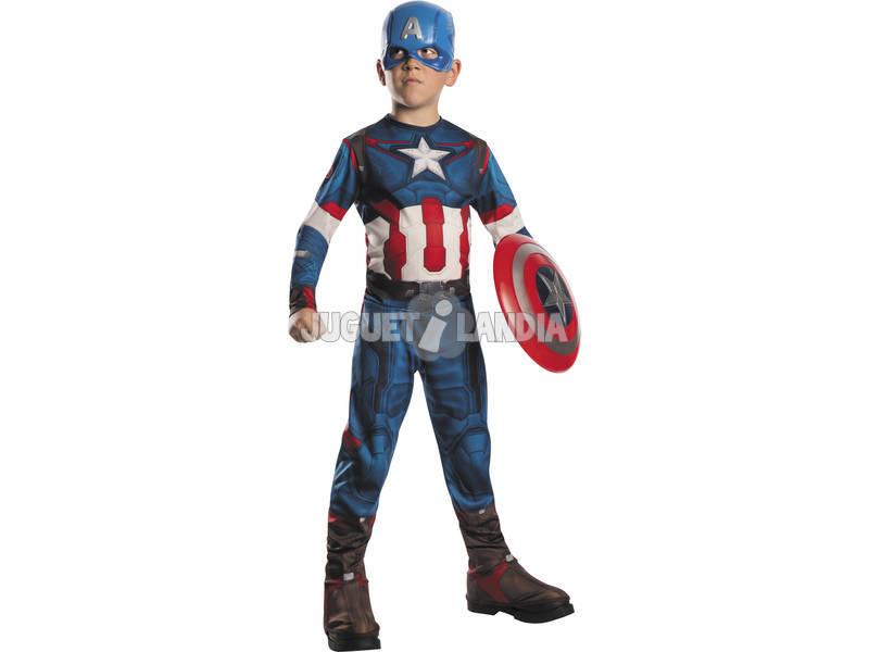 Disfraz Niño Capitan America AOU T-L