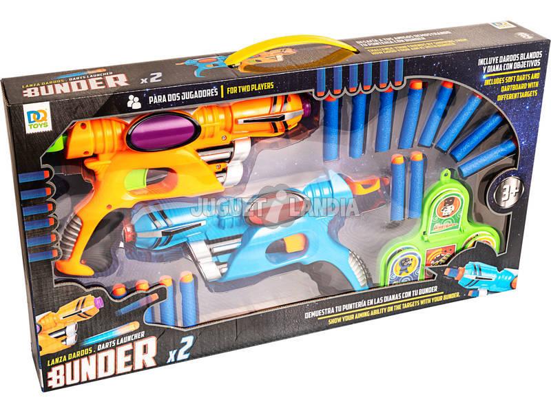2 Pistolas Lança Dardos com Projécteis Macios e Alvo