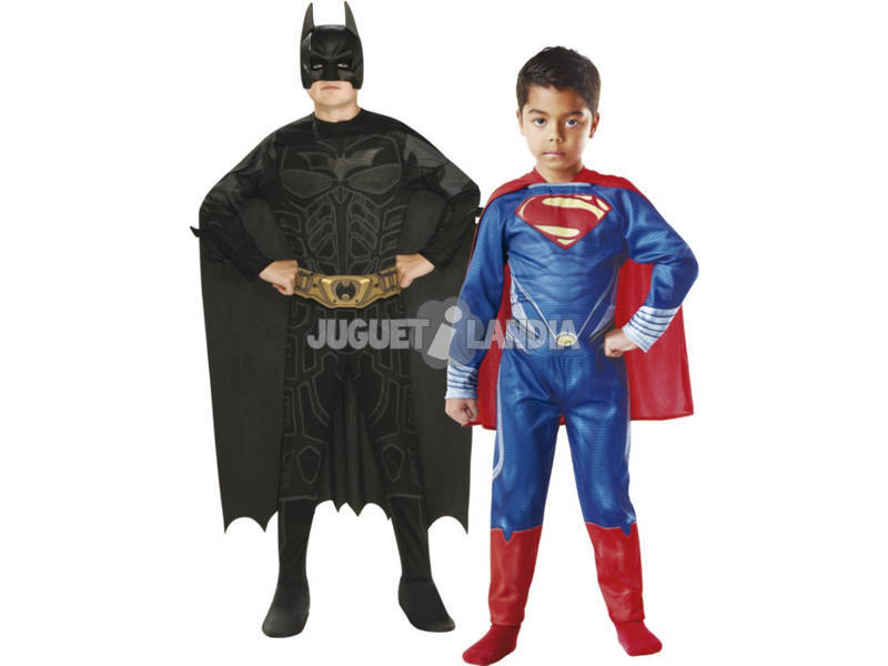 Disfraz Niño Batman-Superman 2x1 T-M