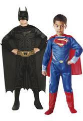 Disfraz Niño Batman-Superman 2x1 T-M