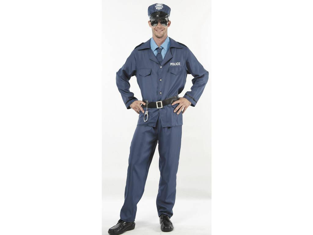 Fantasia Policial Azul Homem Tamanho XL