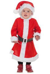 Costume Bimba Babbo Natale XS Llopis 7230