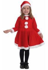 Disfraz Mamá Noel Niña Talla S Llopis 8268-1