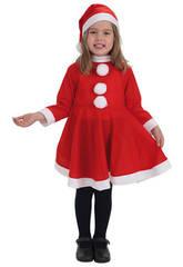 Costume Babbo Natale Bimba M