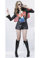 Fantasia estrela de Rock Mulher Tamanho XL