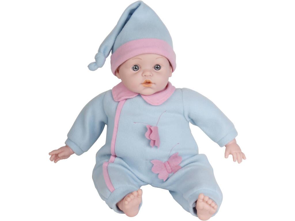Bebè 45 cm con 2 vestitini e accessori