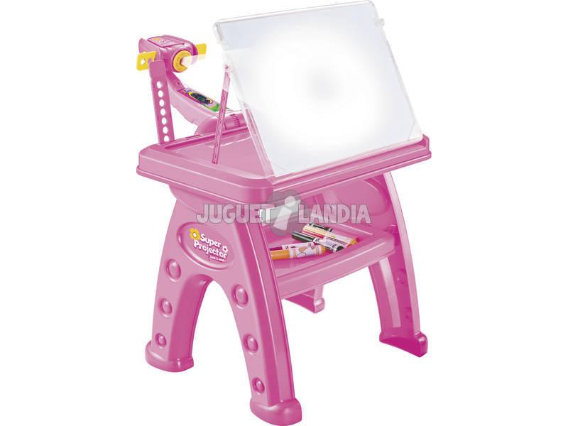 Mesinha de colégio com Super projector rosa