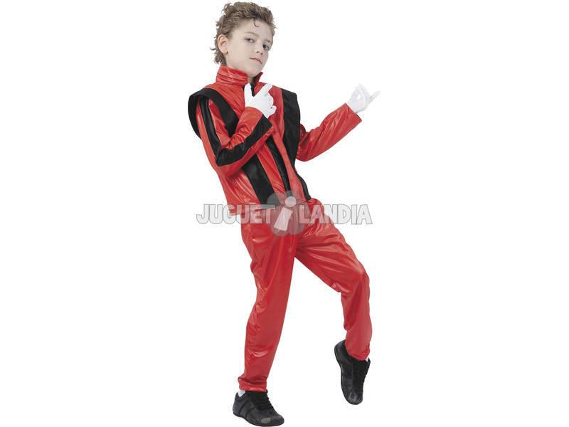 Disfraz Rey del Rock Rojo Niños Talla L