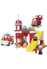 Pompiers Blocs de construction Sceau 80 pièces.