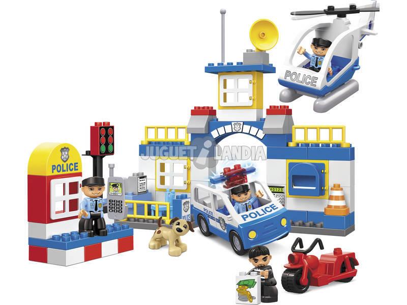 Policia Bloques Construccion Cubo 80 piezas