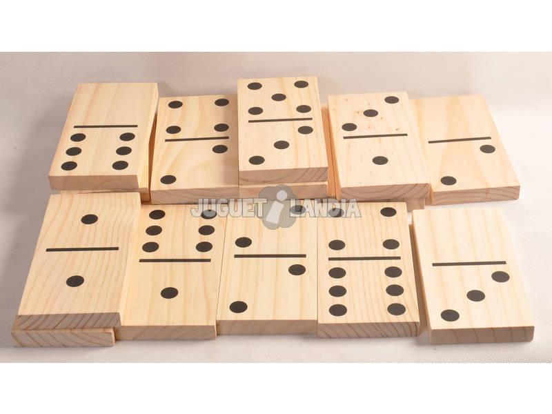 Domino madera con fichas gigantes juguetilandia for Fichas de domino