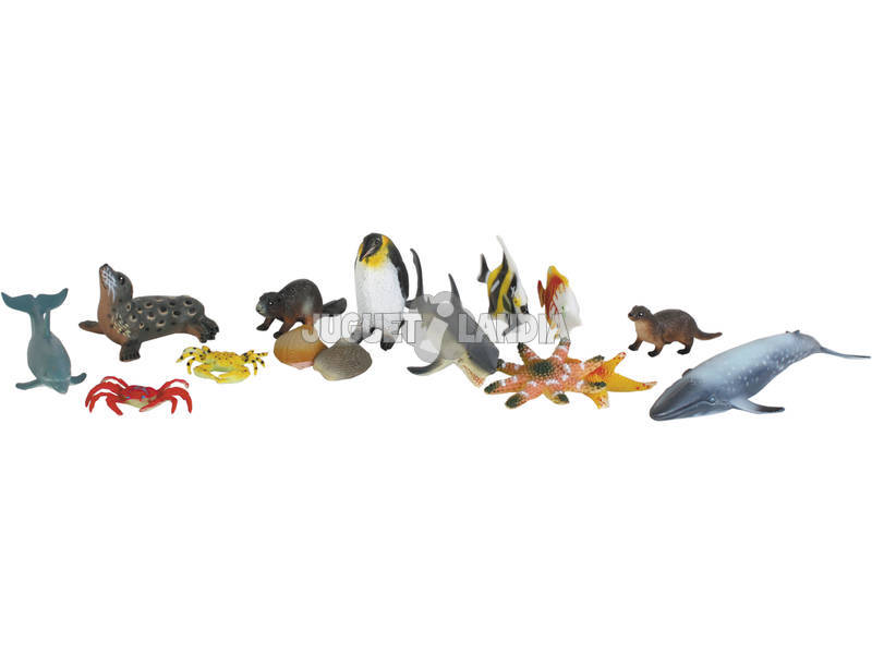 Animales del Oceano 16 piezas