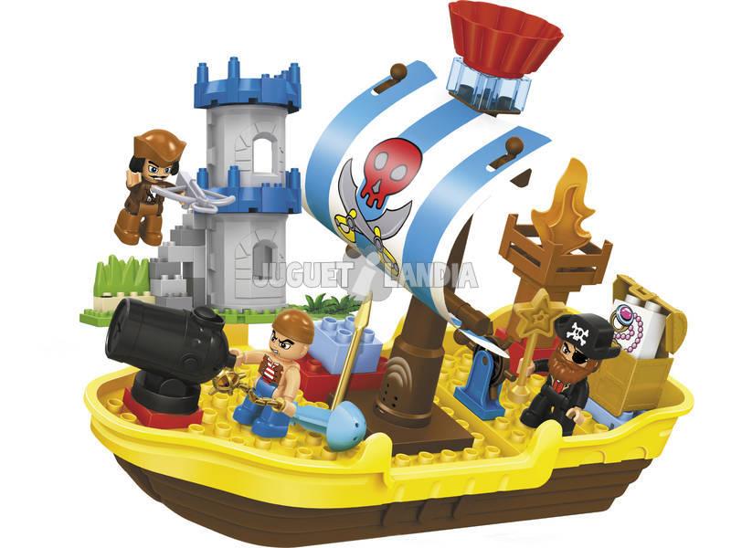 Blocos de Construção 60 Peças Barco Pirata