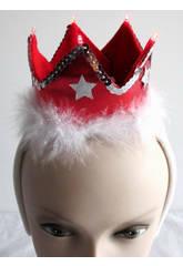imagen Diadema Corona Roja Con Luz