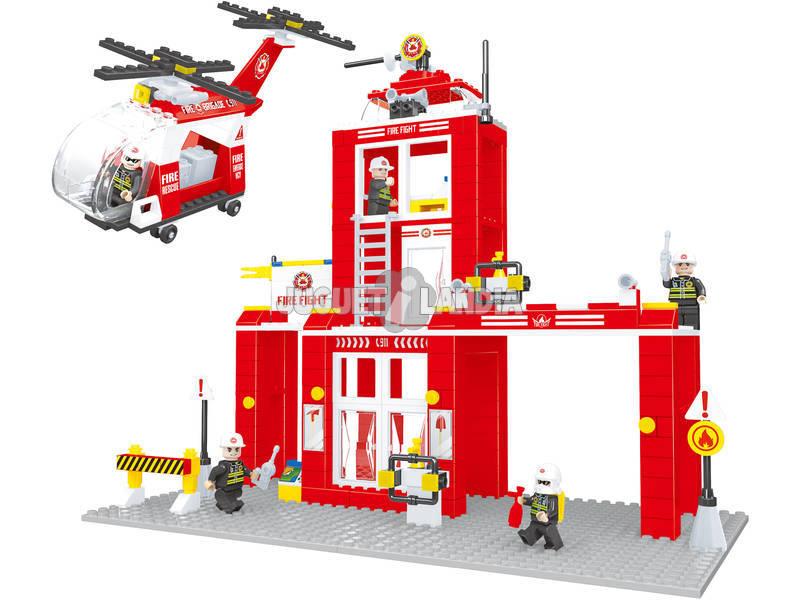 Estacion Bomberos 505 Piezas City Rescate