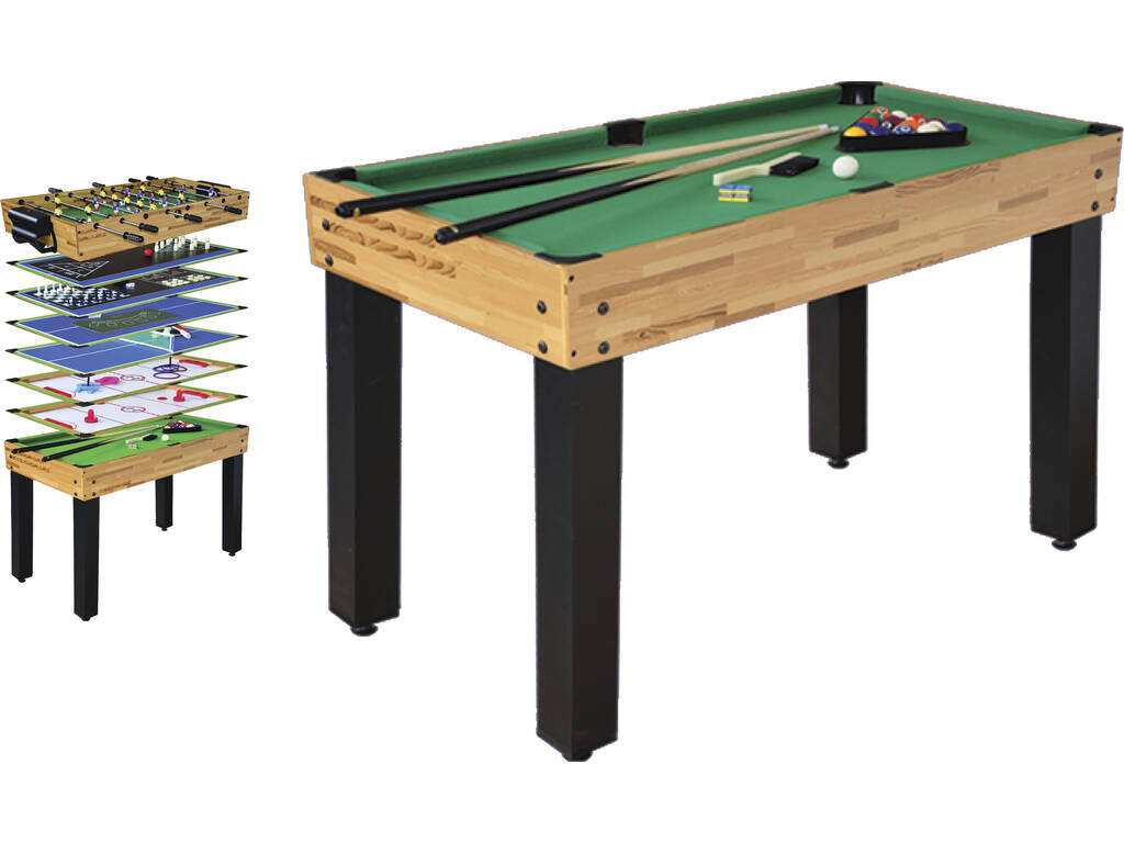 Mesa multijuegos 12 en 1 de 124x61x81 cm juguetilandia for Table 4 en 1