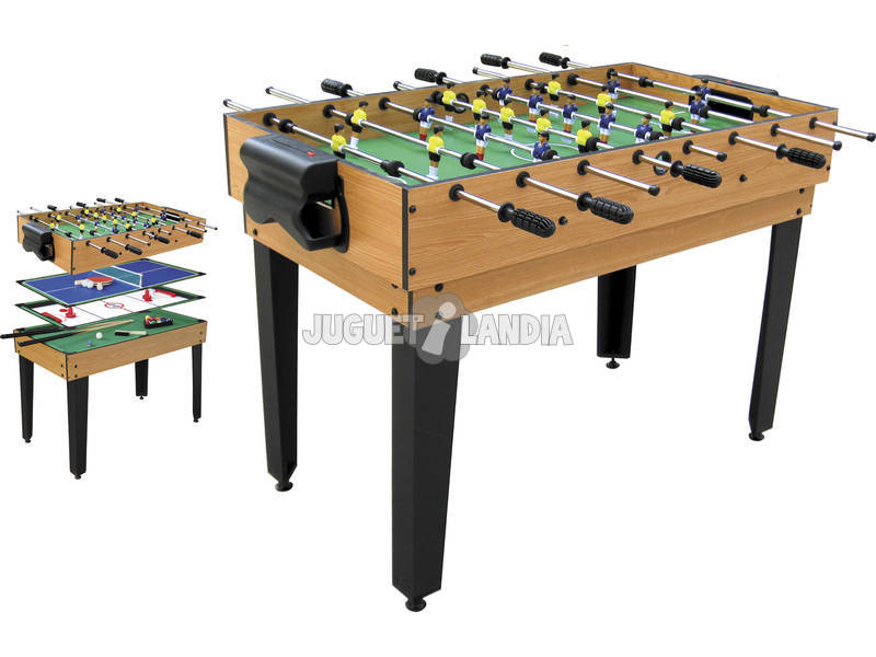 Mesa multijuegos 4 en 1 de 124x61x81 cm juguetilandia for Table 4 en 1 intersport