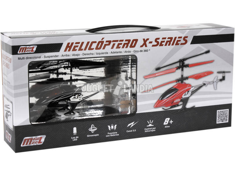 Helicóptero Infrarrojo x-series Con Luz