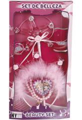 Set Belleza Varita, Collar y Diadema Princesa Rosa