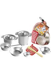 Accesorios De Cocina Aluminio de Juguete 10 Piezas