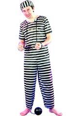 Déguisement Prisonnier pour Homme Taille L